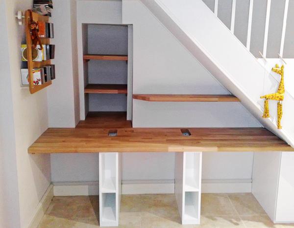 Under Stairs Study C Amp S Interiors