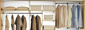 Wardrobe with handy storage and shelves