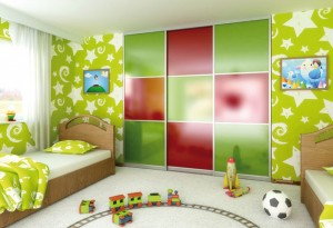 Children wardrobe doors