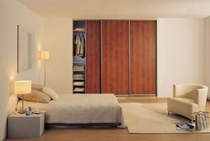 Mahogany sliding wardrobe doors
