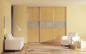 Maple sliding wardrobe doors