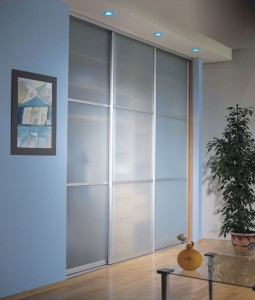 Sliding frosted door