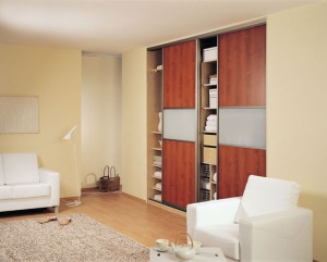Sliding mahogany door