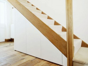 Under stairs wardrobe