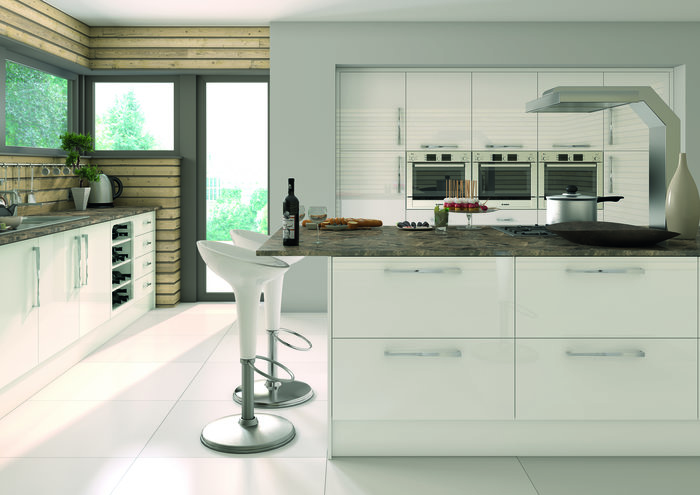 camden gloss white kitchen