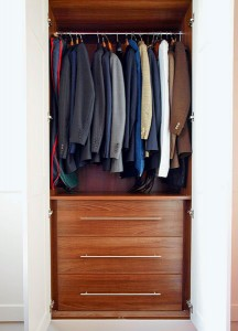 White fitted wardrobes
