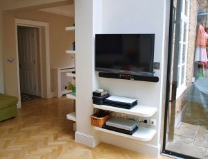 floating shelves for tv