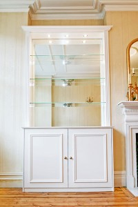 glass shelves in Alcove units