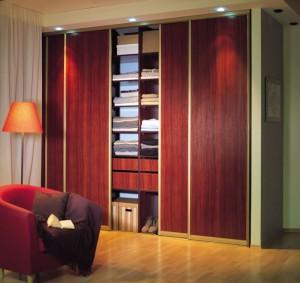 sliding wardrobe mahogany