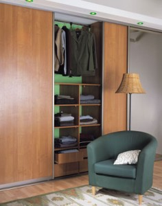 walnut sliding wardrobe doors