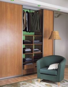 walnut sliding wardrobe doors