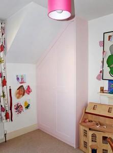 Pink Loft Wardrobe