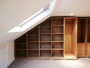 Fitted loft wardrobe interior