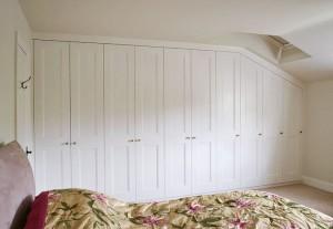 White Loft Wardrobe