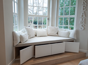 Window seat with integrated storage
