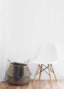 chair and storage basket